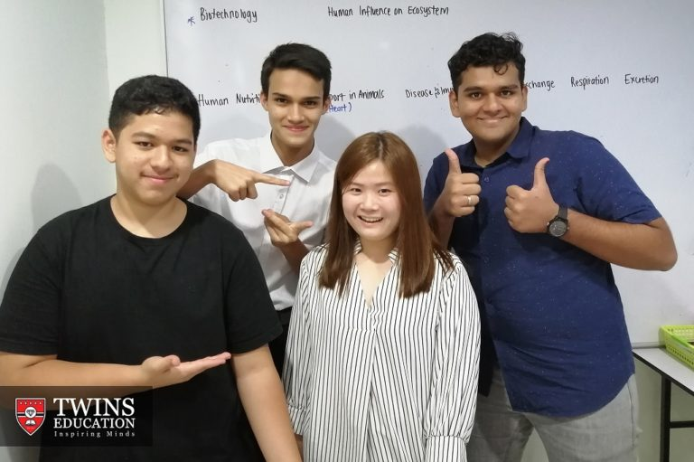 Teacher Brenda (one of our IGCSE chemistry tutor) with her IGCSE chemistry students. They are private candidates taking IGCSE exams. Sometimes they do IGCSE online chemistry tuition.